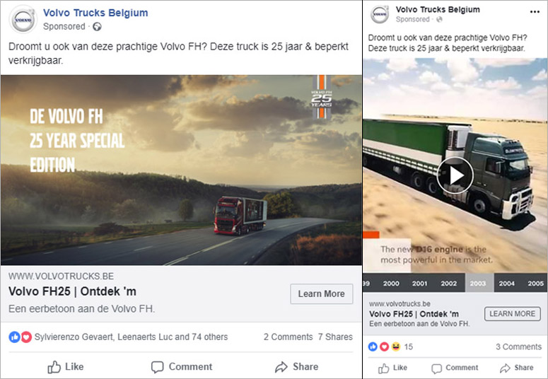 Volvo Trucks - Facebook advertising